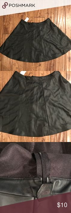 Lauren Conrad faux leather skirt ✨ NWT Super fun skirt NWT by Lauren Conrad. The button on the back is missing but you can't even see it when the skirt is zipped up. 😊 LC Lauren Conrad Skirts
