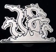 Labors of Hercules - The Lernaean Hydra Silver Pin