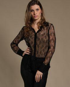Camisa Ampla em Renda Francesa - Bebesh - Camisas no Claire