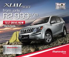 Buy a Mahindra SUV in South Africa from Only per month. Terms and conditions apply. Terms And Conditions, Driving Test, South Africa, Conditioner, How To Apply, Car, Travel, Automobile, Viajes