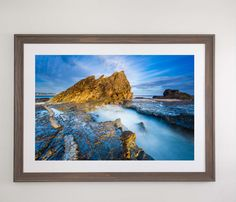 Currumbin Gold - Currumbin, QLD Australia a perfect summers morning on the Gold Coast. Framed beautiful in my beach brown frame with white matte. Perfect artwork for the home or office.