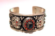 Tibetan, nepal, cuff bangle, bracelet on WANG SHOPPE . Bohemian style.