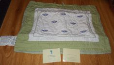 POTTERY BARN KIDS LILY DRAGONFLY QUILTED STANDARD PILLOW SHAM 26 x 27  BEDDING #PotteryBarn