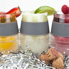 Great Hostess Holiday Gift! Freeze Cooling Wine Glasses...