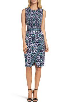 Plus Size Women's Maggy London Rochelle Linen Blend Midi