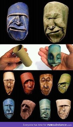 "thefabulousweirdtrotters: ""Toilet paper roll sculptures by Junior Fritz Jacque. - thefabulousweirdtrotters: ""Toilet paper roll sculptures by Junior Fritz Jacquet "" - Toilet Paper Roll Art, Rolled Paper Art, Toilet Roll Crafts, Toilet Art, Toilet Paper Tubes, Toilet Tube, Art Origami, Arts And Crafts, Paper Crafts"