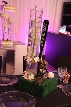 Wedding Reception Centerpiece - DIY Easton Baseball Bat