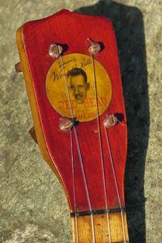 "c.1925 Regal Wendell Hall ""Redhead"" Soprano Ukulele Headstock"