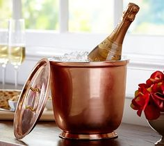 Copper Ice Bucket #potterybarn