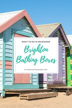One of Melbourne's most photographed spots is the colourful Brighton Bathing Boxes. Mixing quirky beach front attraction with a piece of Melbourne's history. | #Melbourne #Victoria #Australia #Brighton #BathingHuts #BathingBoxes | via. @NicoleTravelBug | How to get to the Brighton Bathing Boxes | Beach boxes in Melbourne | Best Beaches in Melbourne | What to do in Melbourne | Best places to take photos in Melbourne | What to see in Australia