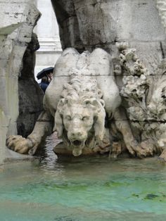 Bernini's Fountain of the Four Rivers in Piazza Navona, Rome, Italy  Rae 12/29/13