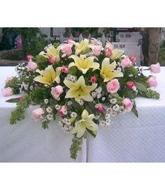 See more ideas about Flower arrangements, Floral arrangements and Flower decorations. Altar Flowers, Church Flowers, Funeral Flowers, Table Flowers, Wedding Flowers, Funeral Flower Arrangements, Artificial Flower Arrangements, Beautiful Flower Arrangements, Artificial Flowers