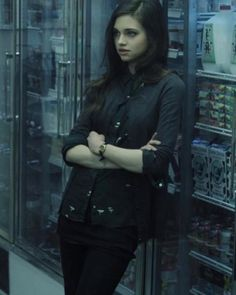 "(India Eisley) Hi, I'm Olivia Foreman (also Masquerade), 16, and too young for this shit. I got pulled into because I was experimented on by HYDRA. My mother used to work for HYDRA but something went wrong, they killed her, stole me, and now I'm a freak. Yes, I am very blunt. My ""powers"" include shape shifting and teleportation. I was rescued by the Avengers and moved to Queens where I met my best friend, Peter Parker. Introduce yourself, i guess?"