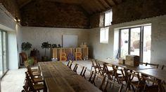 The barn #barn #wedding #crail #standrews Cow Shed, Diy Wedding, Scotland, Dining Table, Barn, Furniture, Home Decor, Homemade Home Decor, Dinning Table Set