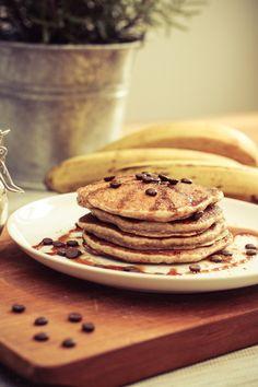 Bananen-Haferflocken Pancakes