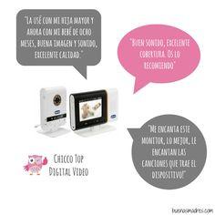 En #bmopina les presentamos 3 opiniones sobre el #Vigilabebés Top digital video de la marca #Chicco ¿Alguna por aqui lo ha utilizado con su bebé? ¿Que opinión les merece?.. Pueden compartir su experiencia entrando en el enlace que compartimos en nuestro perfil #compartetuexperiencia #buenasmadres #monitor