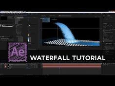 Flomotion Tutorial: Create a realistic waterfall in After Effects with particles Adobe After Effects Tutorials, Effects Photoshop, Video Effects, Photography And Videography, Photography Editing, Motion Design, 3d Camera, Game Effect, Blender Tutorial