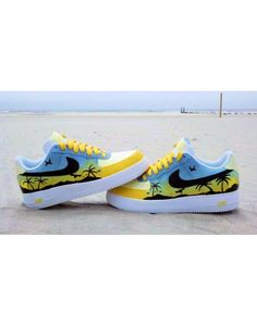 """TROPICAL SUNRISE"" CUSTOM AIR FORCE ONE by Ecentrik Artistry #designer_fashion"