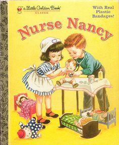Nurse Nancy, Illustrations by Corinne Malvern, 1952- Nurses Cap