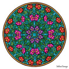 Mystical Mandala Coloring Book (Dover Design Coloring Books) by Alberta Hutchinson - p.28