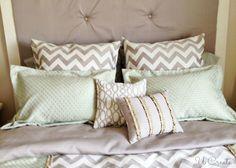 How to make a duvet cover tutorial, plus pillow tutorials