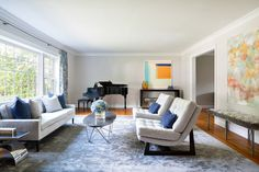 Living Spaces - contemporary - Living Room - New York - Clean Design