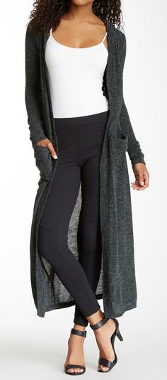 floor length cardigan | style : fall + winter | pinterest