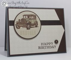 I made this card for the My Favorite Things MFTWSC218 and the Just Us Girls #238 challenges. You can see more information and free instructions for making it on my blog here: http://stampwithamyk.com/2015/03/10/stampin-up-guy-greetings-masculine-birthday-card/