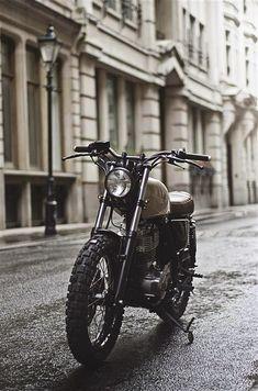 "Yamaha SR 400 Scrambler ""Type by Auto Fabrica Vintage Motorcycles, Custom Motorcycles, Custom Bikes, Honda Motorcycles, Classic Motors, Classic Bikes, Yamaha Sr400, Yamaha 250, Chopper"