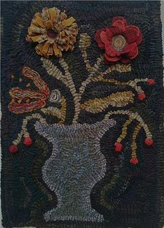Flower Basket Hooked Rug by Maria at Star Rug Company