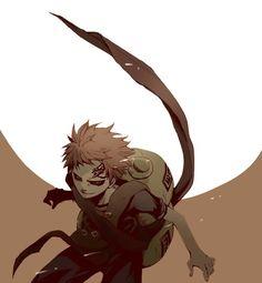 Gaara, full moon; Naruto