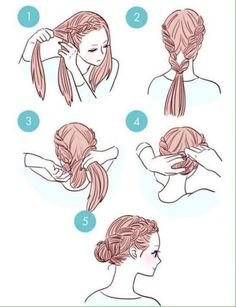29 simple and easy ways to tie up your hair ^_____^ - Album on Imgur