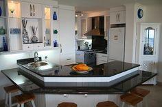 The beautiful white kitchen at Villa Siesta self catering units