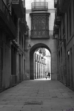 In the distance  Streets of Barcelona