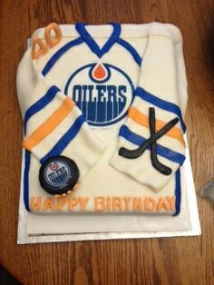 Edmonton Oilers birthday cake Dans birthday Pinterest
