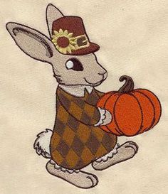 Vintage Thanksgiving Bunny_image