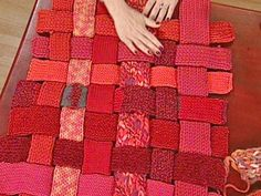 Designer Erika Knight shares her designs for a lovely rug made from leftover chunky wool.