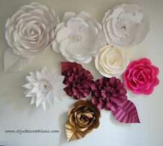 Tutorial on how to make oversized paper flowers   Handmade Flowers