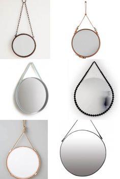 mirror decor trends - hanging circular mirrors #round #mirror #trend ITALIANBARK blog