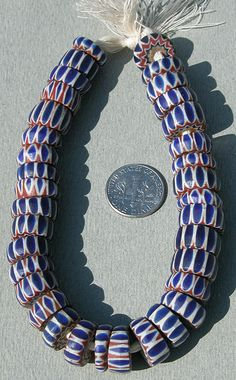 Venetian six layer chevron bead slices from the African Trade | ca early 1900s