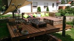 DSC 0018 600x337  Pallet deck and lounge area / die Benkers in pallet lounge pallet garden pallet outdoor project  with pallet Lounge Garden...