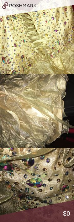Gold Formal dress Extra Pictures Dresses Prom