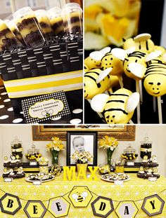 Bee-Day party - currently in the lead for D's birthday these since Yellow is his favorite color and bees are his favorite animal (he loves the buzz)
