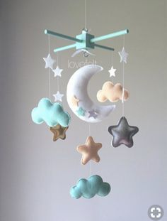 Items similar to Baby Crib Mobile - Baby Mobile - Mint Peach Mobile - Peach Mint Mobile - Peach Mint Gold Nursery - Peach Mint Nursery - Moon Star Mobile on Etsy - Kids Mint Nursery, Gold Nursery, Nursery Decor, Star Mobile, Lila Baby, Baby Ruth, Gold Kindergarten, Baby Mädchen Mobile, Baby Car Mirror