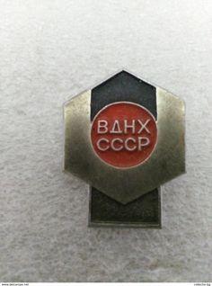 "RARE VDNX ВДНХ СССР SSSR RUSSIA USSR  70""S LOGO  VINTAGE  BADGE PIN - Associations"