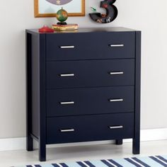 Uptown 4-Drawer Dresser (Midnight Blue)  | The Land of Nod