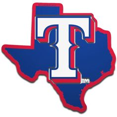 Wherever you go, you'll always be a Texas Rangers fan at heart. Stick on your team love with this Metallic State Shape Acrylic Auto emblem from WinCraft. Its design lets everyone know where your proud roots are. Texas Rangers Gear, Texas Rangers T Shirts, Dallas Cowboys Shirts, Rangers Baseball, Kentucky Basketball, Duke Basketball, Kentucky Wildcats, College Basketball, Sports Fan Shop