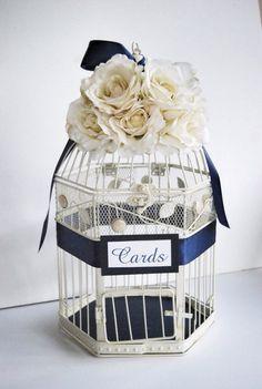 Custom Large Shabby Chic Wedding Birdcage by MackensleyDesigns
