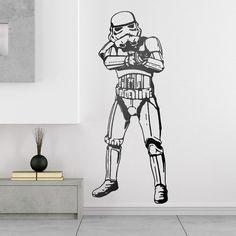 Stickers muraux: Stormtrooper. Vinyle décoratif Star Wars. #starwars #vinyle #mur #trooper #stormtrooper #decoration #deco #WebStickersMuraux