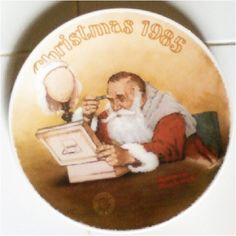"""Norman Rockwell Collector Plate """" Grandpa Plays Santa"""" 1985 Knowles on Etsy, $12.00"""